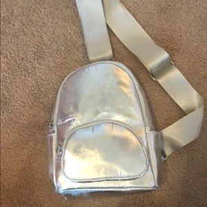 Metallic Sling Backpack